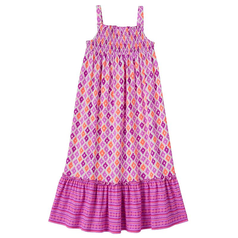 Girls 4-7 SONOMA Goods for Life™ Printed Smocked Maxi Dress