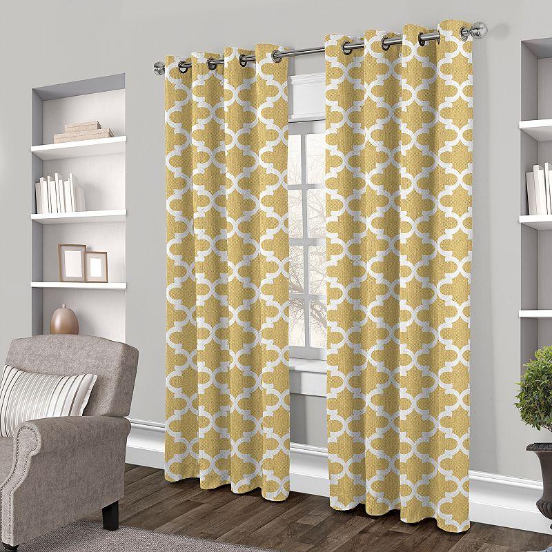 Exclusive Home 2-pack Neptune Trellis Cotton Curtains