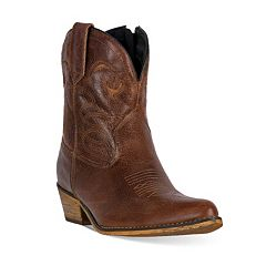 Dingo Adobe Rose Women's Distressed Western Ankle Boots by