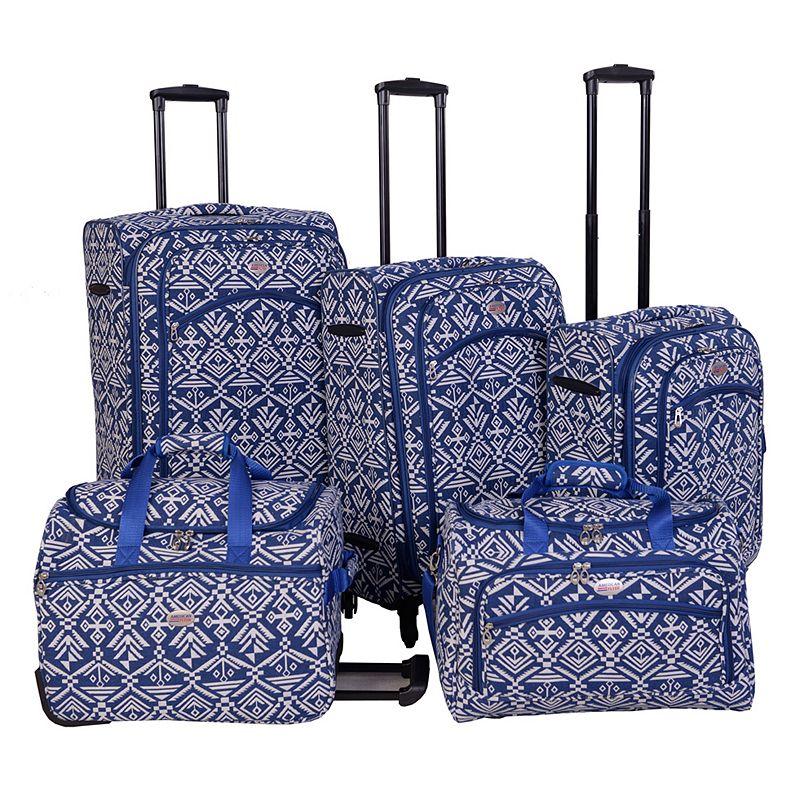 American Flyer Aztec 5-Piece Luggage Set