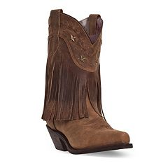 Dingo Hang Low Women's Distressed Fringed Boots by