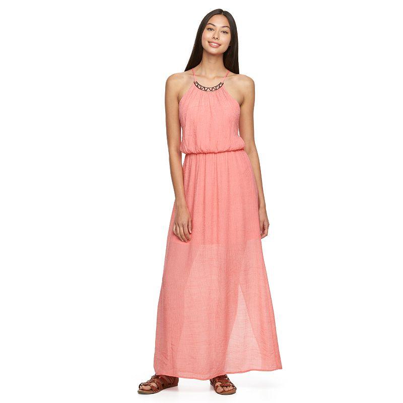 Juniors' Lily Rose Halter Maxi Dress