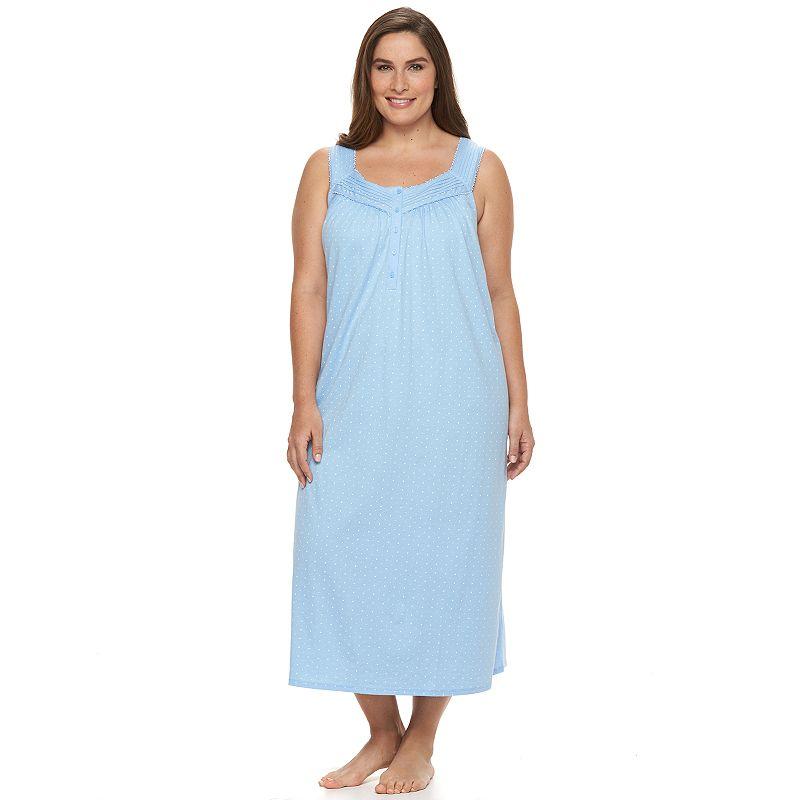 Plus Size Croft & Barrow® Pajamas: Sleeveless Knit Nightgown