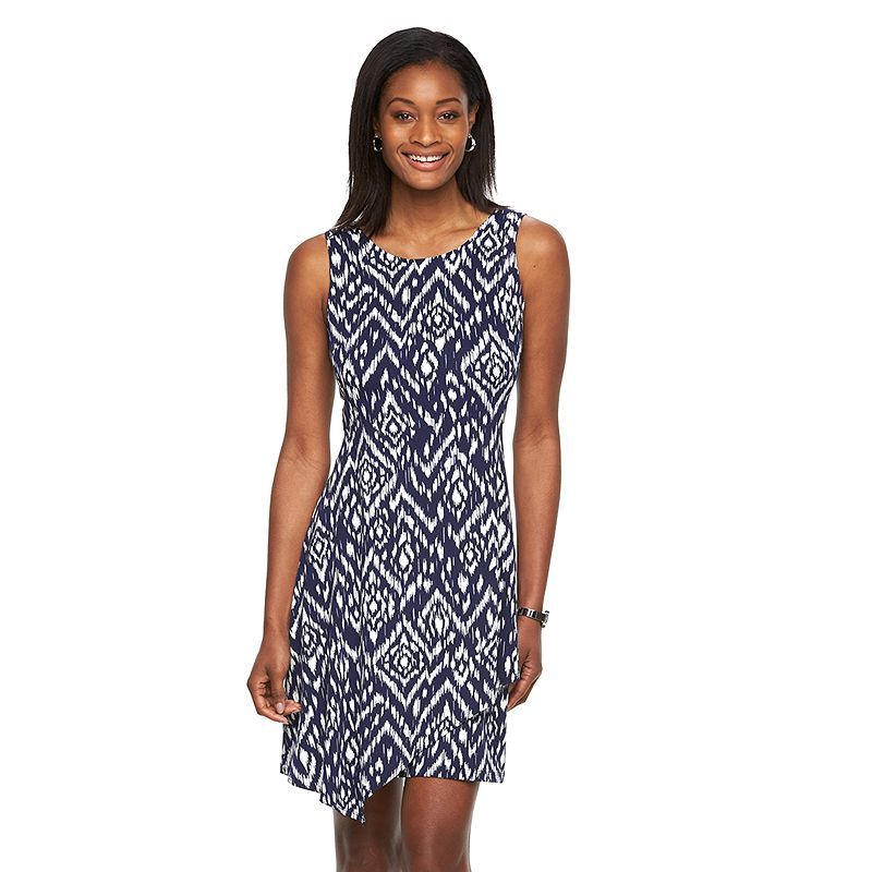 Women's AB Studio Ikat Asymmetrical Shift Dress