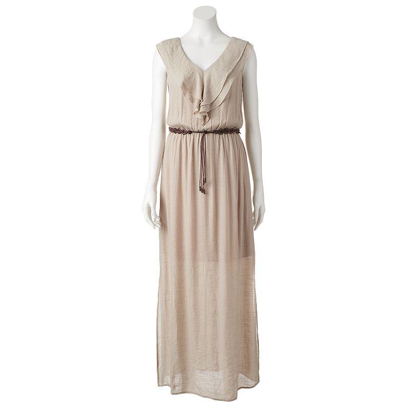 Women's AB Studio Ruffle Maxi Dress