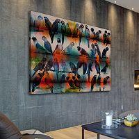 Parvez Taj Chatty Birds Canvas Wall Art