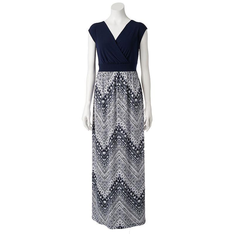 Women's AB Studio Chevron Maxi Dress