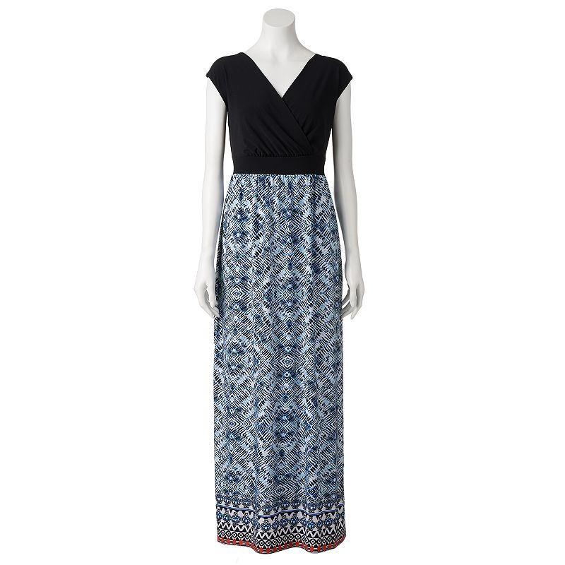 women 39 s ab studio mosaic print maxi dress dealtrend