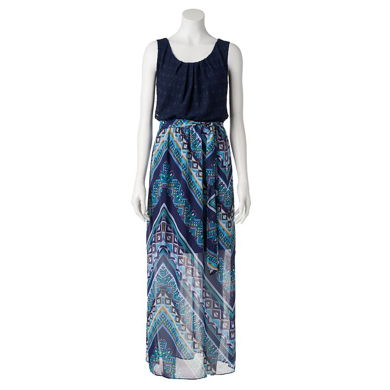 Women's AB Studio Jacquard Print Maxi Dress