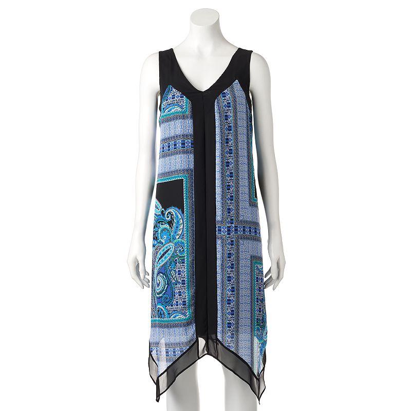 Women's AB Studio Paisley Handkerchief Hem Dress