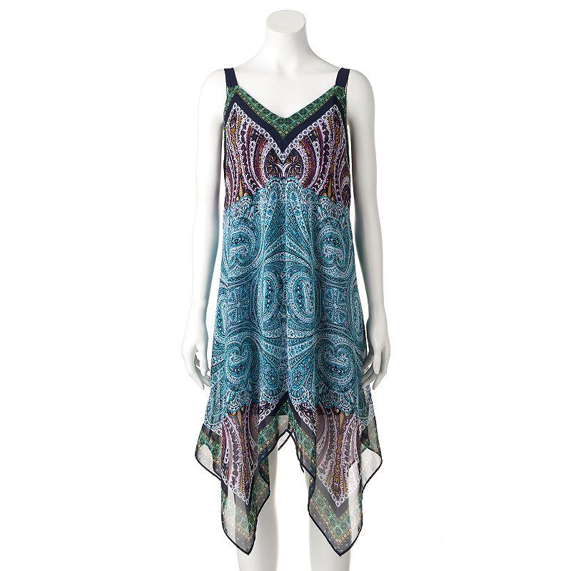 Women's AB Studio Paisley Handkerchief-Hem Dress
