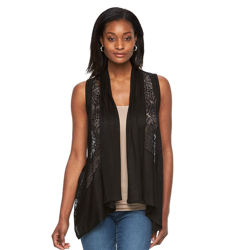 Women's AB Studio Open-Front Lace Vest