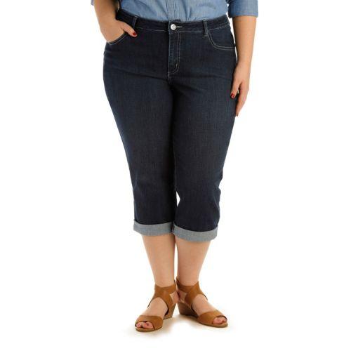 Plus Size Lee Violet Skimmer Capris