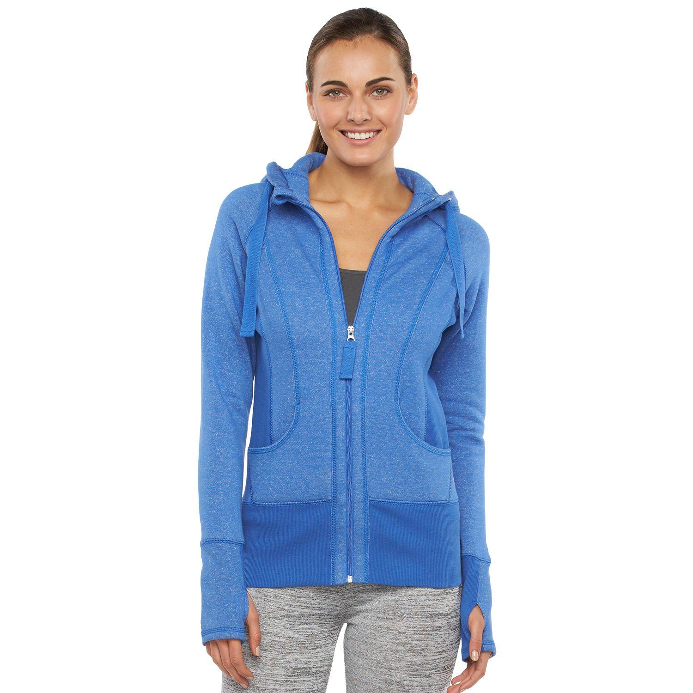 Womens 90 Degree by Reflex Fleece Workout Jacket