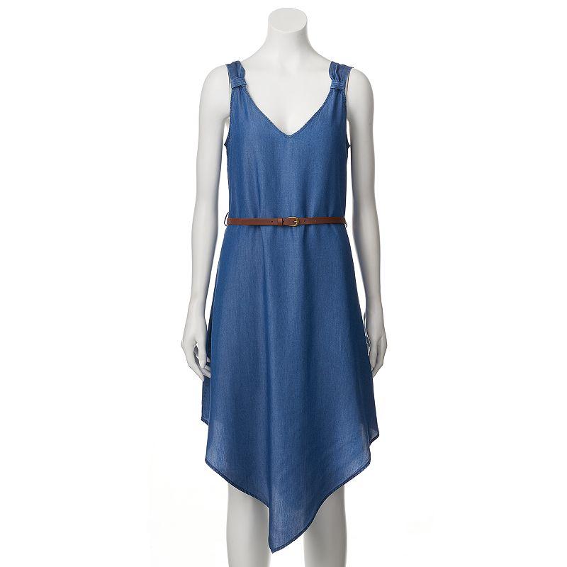 Women's Halo Asymmetrical Hem Dress