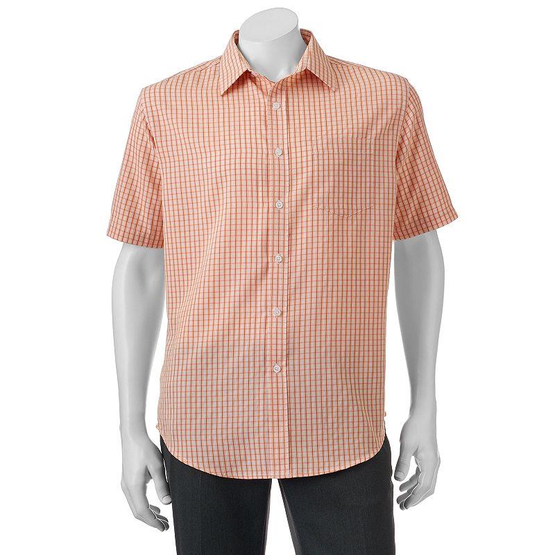 Big & Tall Croft & Barrow® Classic-Fit Plaid Easy-Care Microfiber Button-Down Shirt