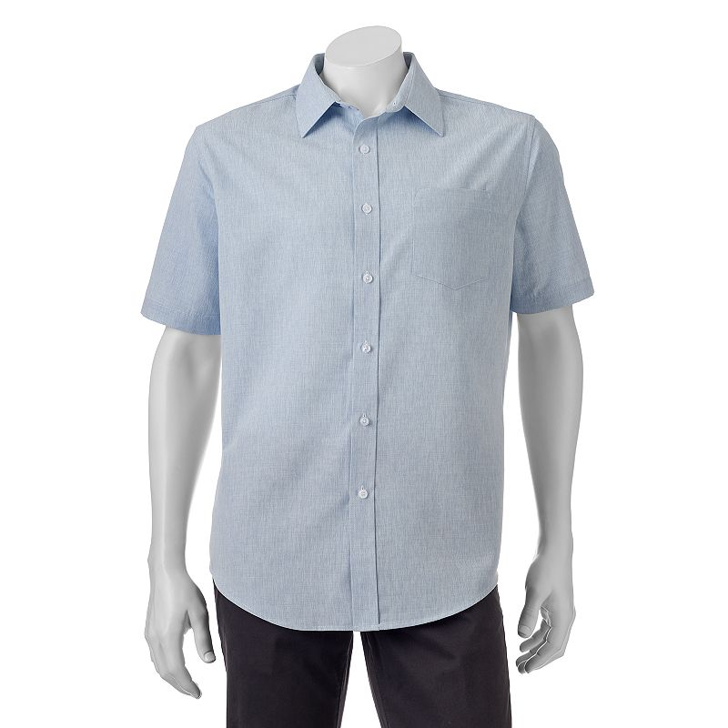 Big & Tall Croft & Barrow® Classic-Fit Easy-Care Microfiber Button-Down Shirt