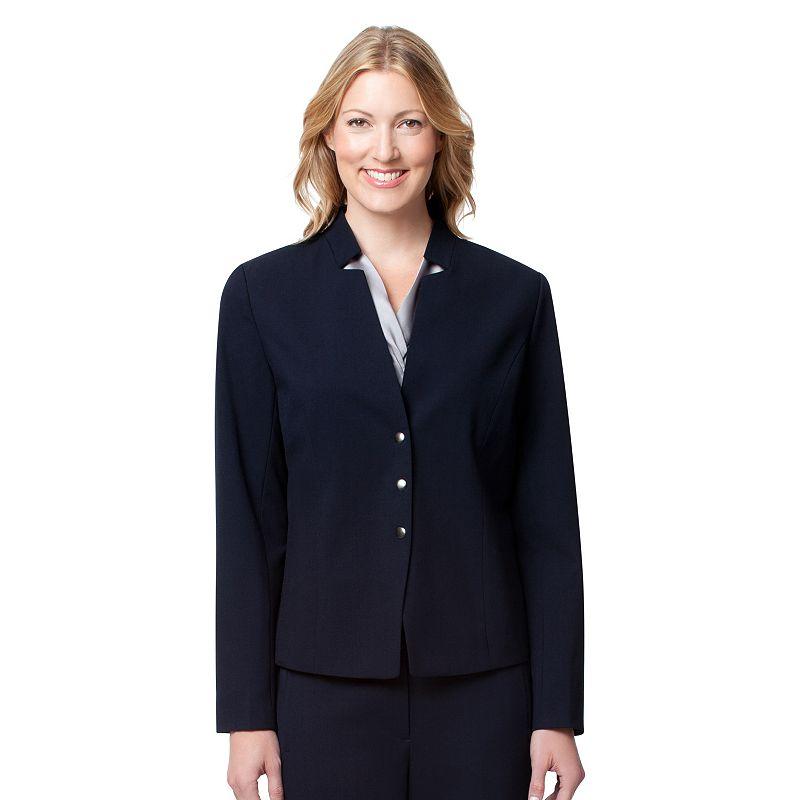 Women's Larry Levine Snap-Front Blazer