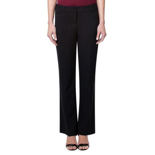 Women's Larry Levine Solid Dress Pants