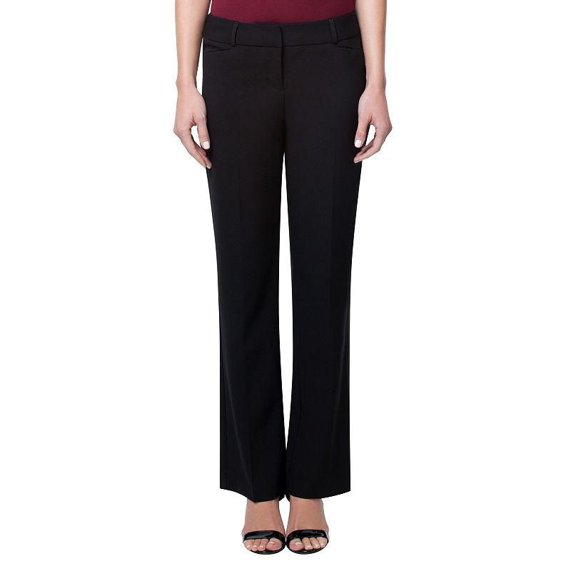 Women's Larry Levine Solid Dress Pants