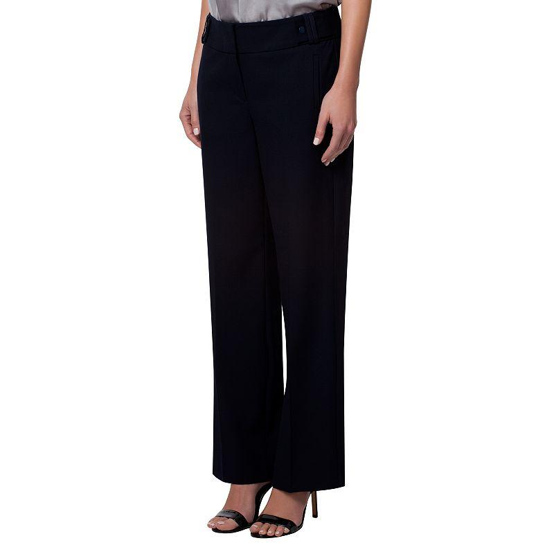 Women's Larry Levine Wide-Waistband Dress Pants