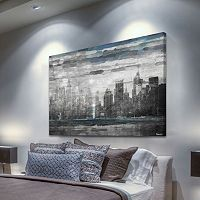 Parvez Taj ''Sunset in NYC'' Canvas Wall Art