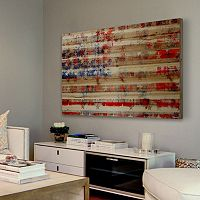 Parvez Taj ''Stars and Stripes'' Wood Wall Art