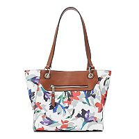 Chaps Faux-Leather Mesa Tote