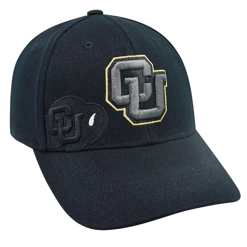 Adult Top of the World Colorado Buffaloes Burnout One-Fit Cap