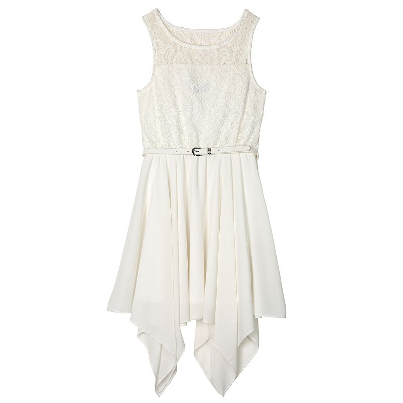 Girls 7-16 IZ Amy Byer Lace Handkerchief Dress