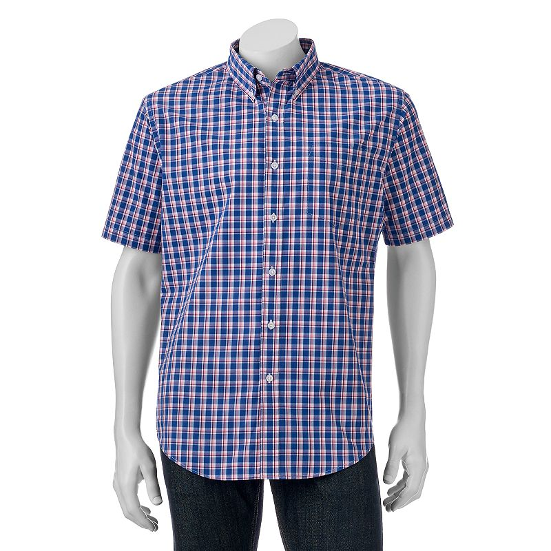 Big tall croft barrow classic fit plaid easy care for Big and tall quick dry shirts