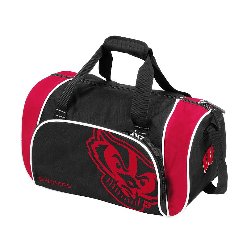 Logo Brand Wisconsin Badgers Locker Duffel Bag
