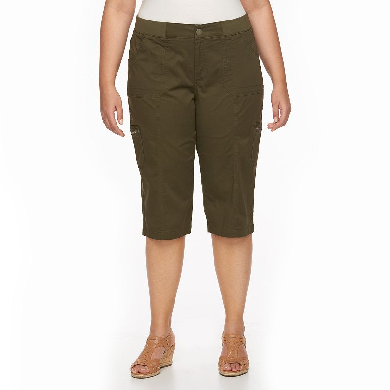 Plus Size Lee Autumn Relaxed Fit Twill Capris