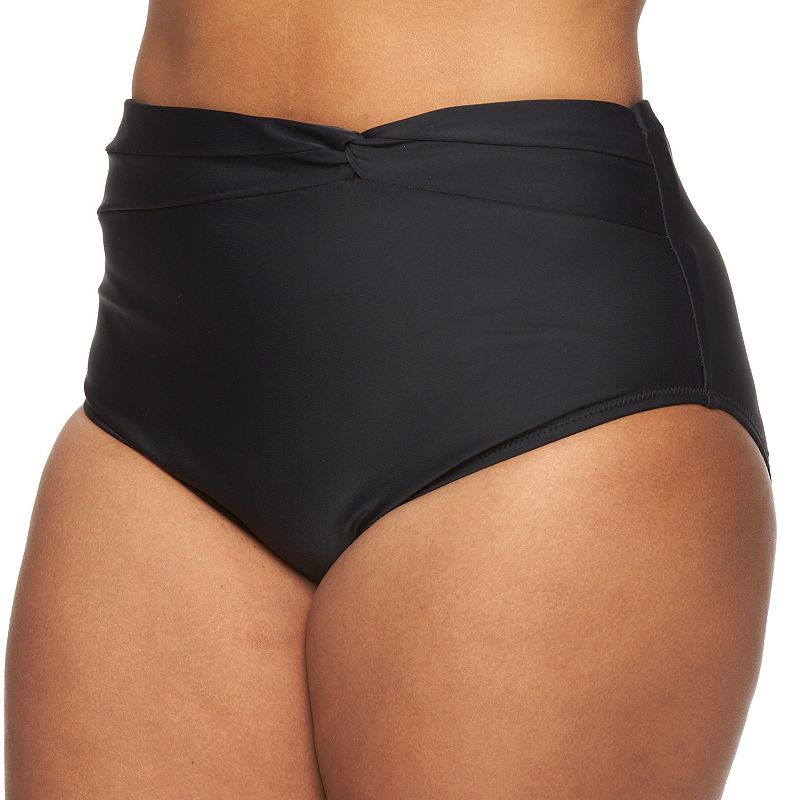 Plus Size Pink Envelope High-Waisted Brief Bottoms