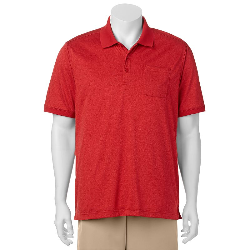 Men's C-BUK by Cutter & Buck Albany Slim-Fit Heathered Performance Pocket Golf Polo