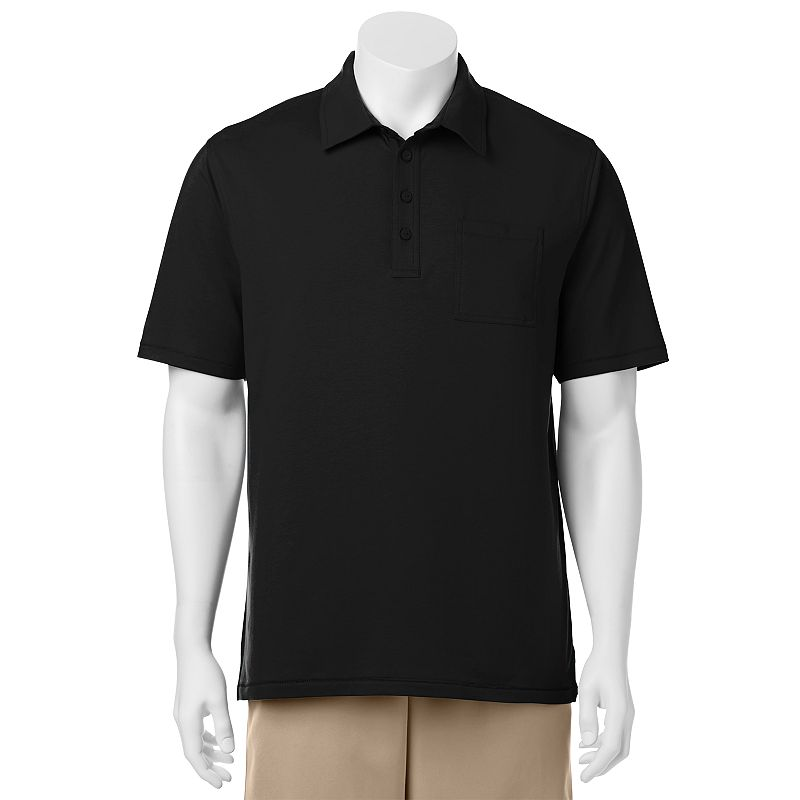 Men's C-BUK by Cutter & Buck Dunes Slim-Fit Solid Performance Pocket Golf Polo