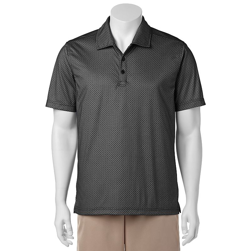 Men's C-BUK by Cutter & Buck Pine Crest Slim-Fit Patterned Performance Pocket Golf Polo