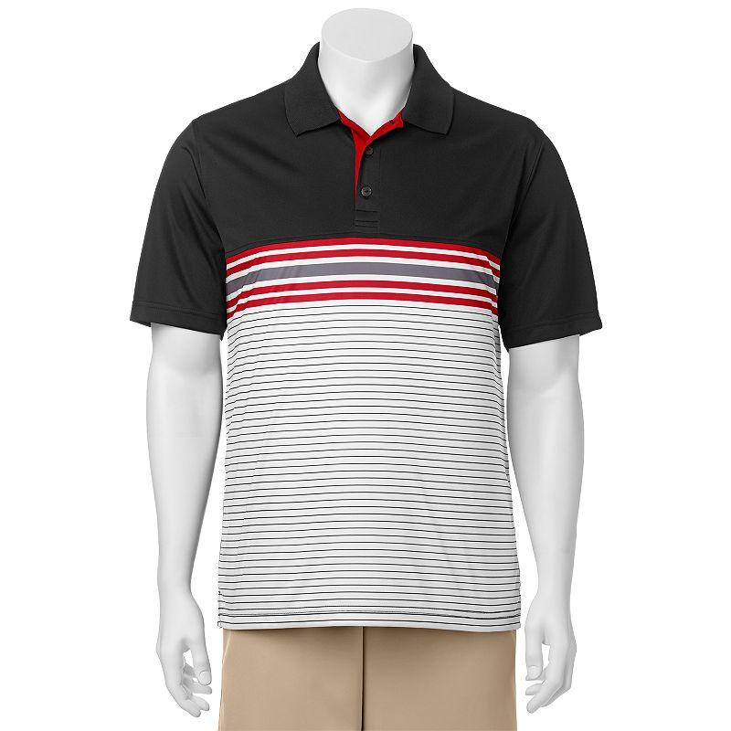 Men's C-BUK by Cutter & Buck Heron Lakes Slim-Fit Striped Performance Golf Polo