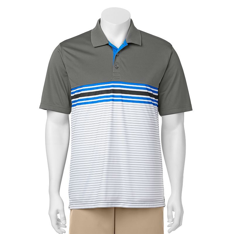 Men's C-BUK by Cutter & Buck Heron Lakes Slim-Fit Striped Performance Golf Polo