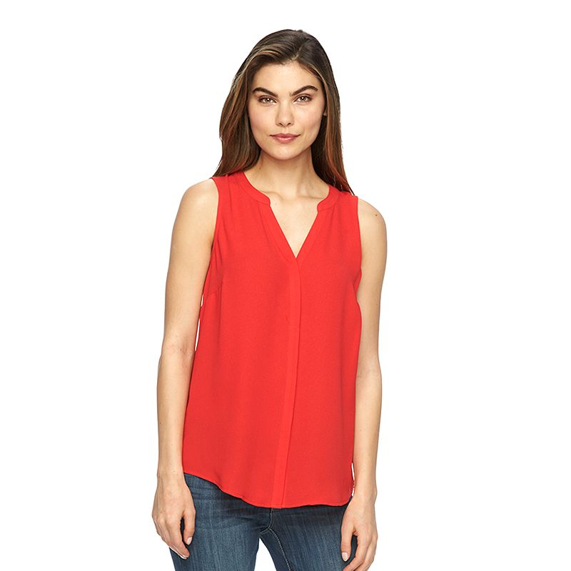 Women's Apt. 9® Pleated Crepe Tank
