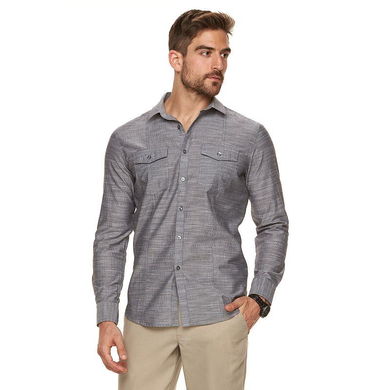 Men's Marc Anthony Slim-Fit 2-Pocket Textured Button-Down Shirt