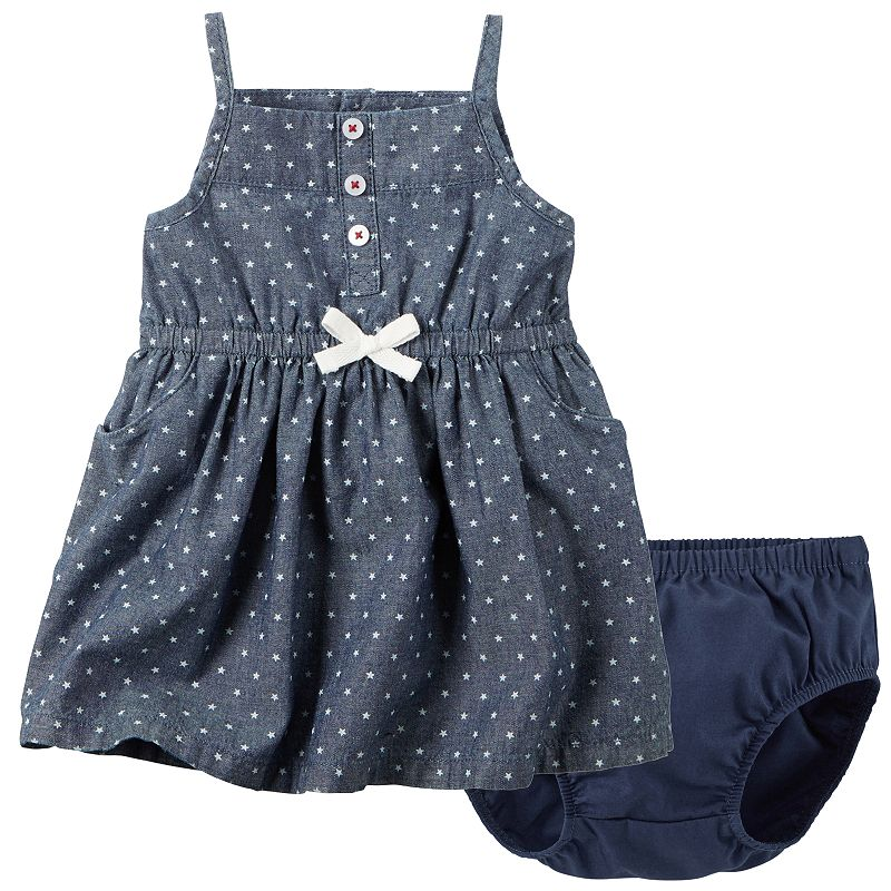 Baby Girl Carter's Star Chambray Dress