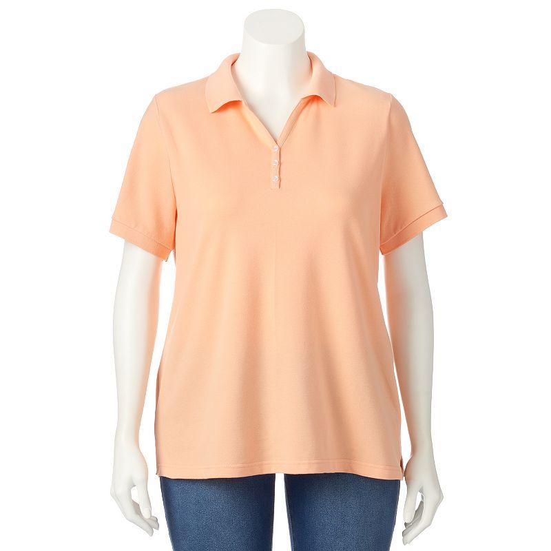 Plus Size Croft & Barrow® Johnny Collar Polo