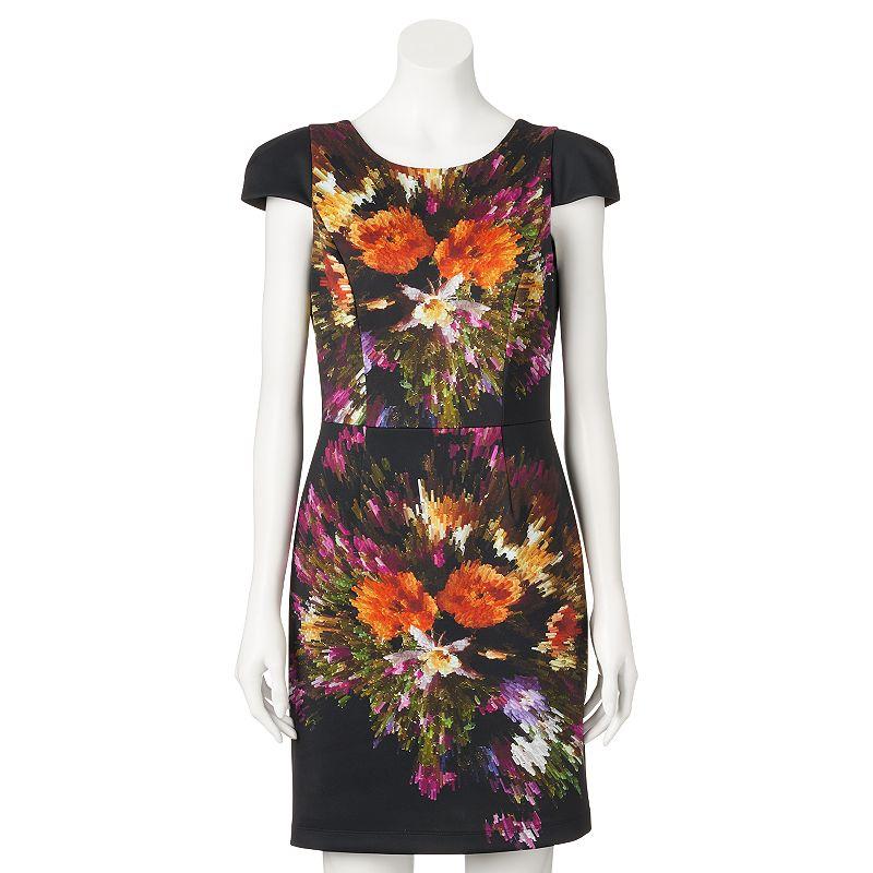 Women's M by Maia Floral Scuba Sheath Dress