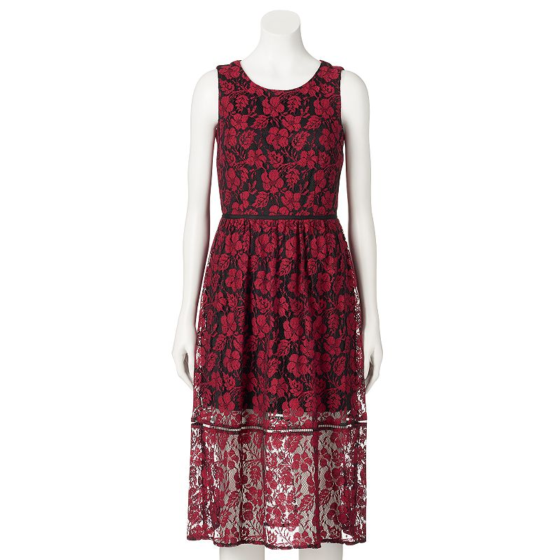 Women's M by Maia Floral Lace Midi Dress