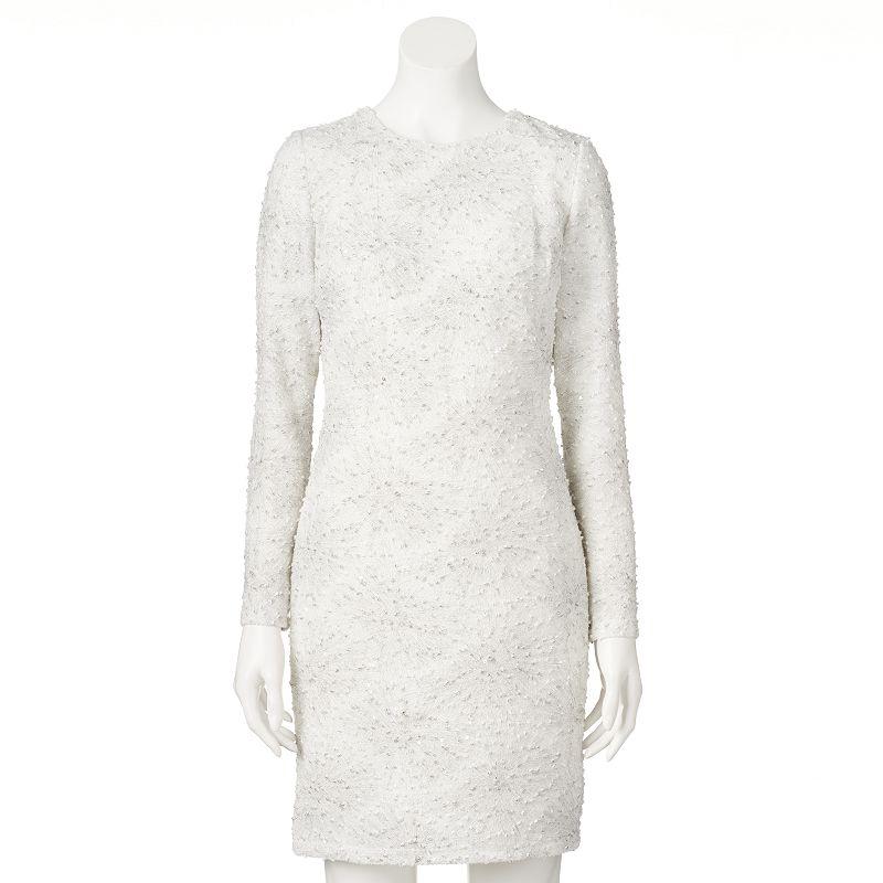 Women's M by Maia Textured Sequin Sheath Dress