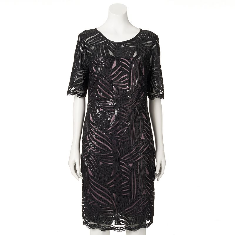 Women's DR by Donna Ricco Sequin Sheath Dress