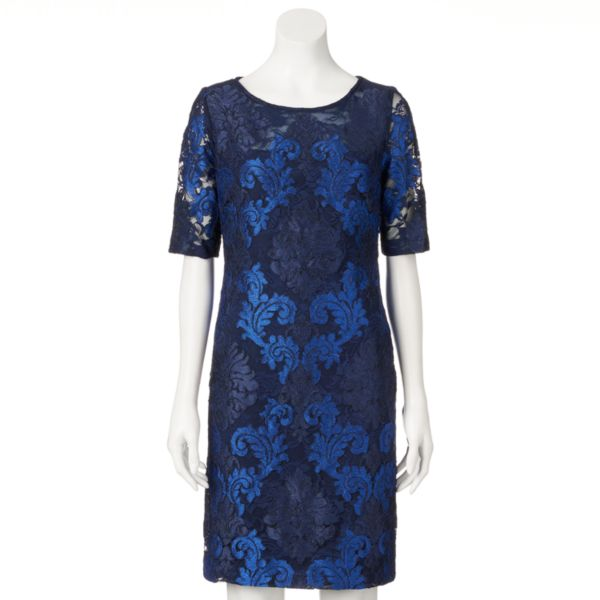 Women's DR by Donna Ricco Lace Sheath Dress