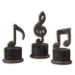 Click here to buy Music Notes Statue Table Decor 3-piece Set.