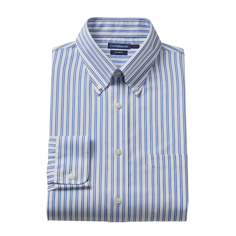 Men's Croft & Barrow® Slim-Fit No-Iron Dress Shirt